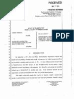 Amber Wright v Washington DSHS AG Response to Plaintiff's Petitions Nov 2011