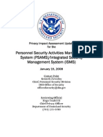Privacy Pia Dhs Psams Isms DHS Privacy Documents for Department-wide Programs 08-2012