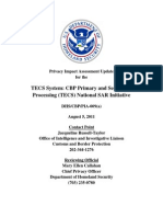 Privacy Pia Cbp Tecs Sar Update DHS Privacy Documents for Department-wide Programs 08-2012
