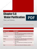 Science Form 2 Chapter 5.6 & 5.7 Water Purification & Water Systems Note