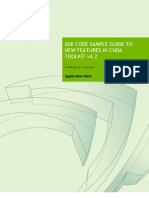 CUDA SDK New Features Guide