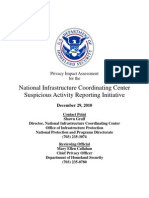 Privacy Pia Nppd Nicc Sars DHS Privacy Documents for Department-wide Programs 08-2012