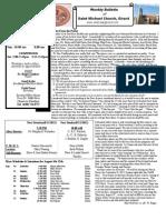 St. Michael's August 5, 2012 Bulletin