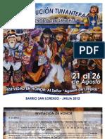 Institución Tunantera 'Zenobio Tiza' 2012