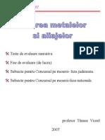 Sudarea Metalelor Si Aliajelor_Teste&Subiecte