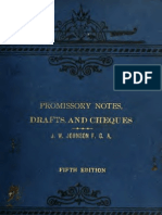 JW Johnson - Promissory Notes, Cheques and Drafts