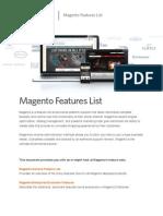 Magento Feature List