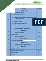 A Project Report on Working Capital Management Nirani Sugars Ltd