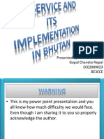 3G Services and Its Implementation in Bhutan