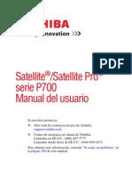 manual en español Toshiba Satellite Pro  series P700
