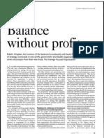 Kaplan & Norton - Balance Without Profit