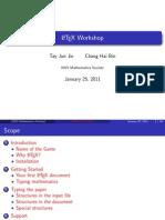 A beginner's workshop on LaTeX