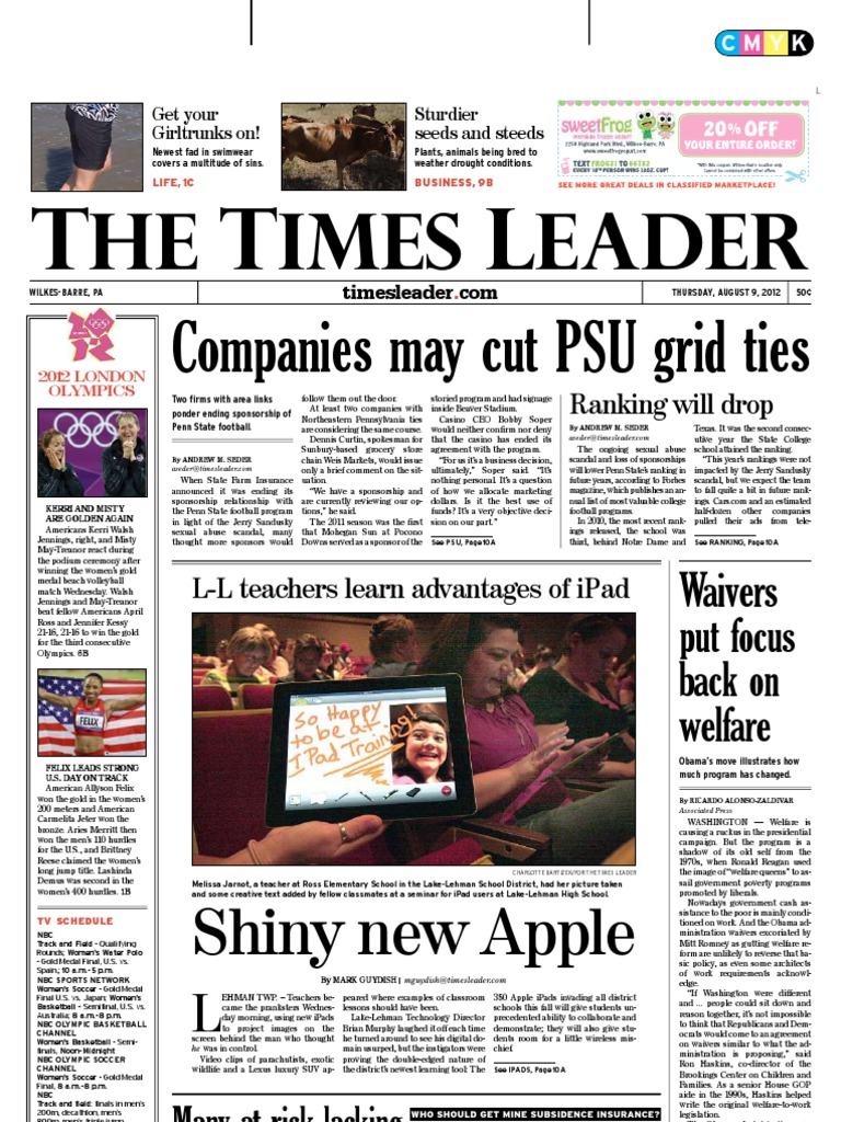 Times Leader 08 09 2012 Personal Responsibility And Work Diagram Moreover Spark Plug Replacement Mercedes Gl450 On Valve Block Opportunity Act Temporary Assistance For Needy Families