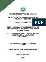GENERAL Impactos Petroleo TESIS Ecuador