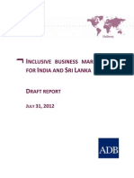 Inclusive Business Market Study for India and Sri Lanka (Draft Report)