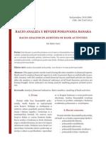 Racio Analiza u Reviziji Poslovanja Banaka
