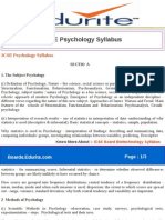 ICSE Psychology Syllabus