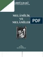 Abdülbaki Gölpınarlı - Melamilik ve Melamiler