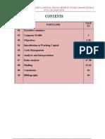 A Project Report on Working Capital Management Patel Shanti Steels Pvt Ltd, Raichur