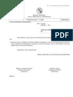 BCRA - Comunicación A 5319 - Créditos para inversión