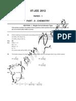 IIT Paper 1 Chemistry 2012
