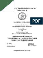 La Valutazione dei Piani Territoriali di Politiche Giovanili nella Provincia di Napoli