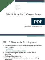 WiMAX Technonlogy