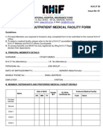 Change of Medical Facility Form