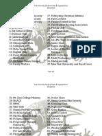 Fisk University Clubs Organizations 2012-2013