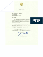 Senator Webb Letter to Sikh Foundation of VA