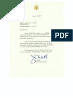 Senator Webb Letter to Sikh Foundation of VA