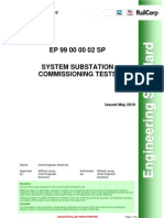 System Substation Commissioning Tests