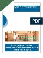 Cuadernos de Educación 2012 JUN-AGO(año VI) nº21