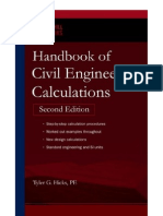 Handbook for Civil Engineering Calculations