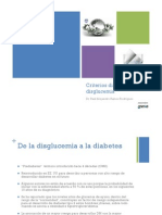 Criterios Diagnosticos de Disglucemia