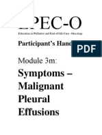 EPEC-O M03m Malignant Pleural Effusions PH