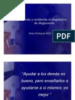 Dando y recibiendo el diagnóstico de disglucemia