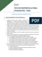 Instructivo de Matricula