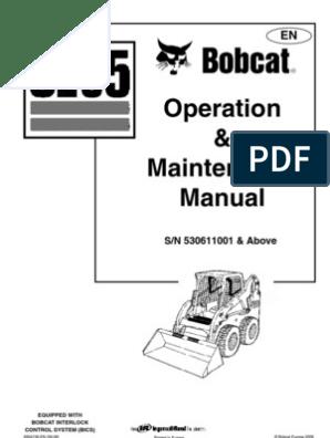 Manual de Operacion Bobcat | Loader (Equipment) | Elevator