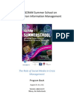 ISCRAM Summer School 2012 Program Book - final version