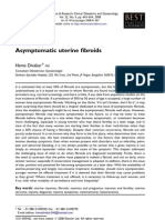 Asymptomatic Uterine Fibroids