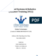 Embedded Systems & Robotics Syllabus Summer Training 2