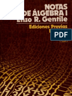 Notas de Álgebra I - Enzo R Gentile