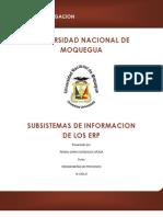 Subsistemas de Informacion de Los Erp