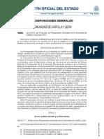 Castilla y León Ley 5/2012 de Presupuestos para 2012