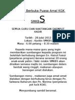 Majlis Berbuka Puasa Amal KGK SMKBS