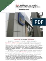 Banco Itaú insiste con sus estafas en complicidad con golpistas