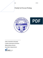 2008 Early In-Person Voting in Franklin County, Ohio