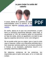 Consejos para tratar la caida del cabello