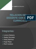 Relacion Del Docente Con El Curriculo
